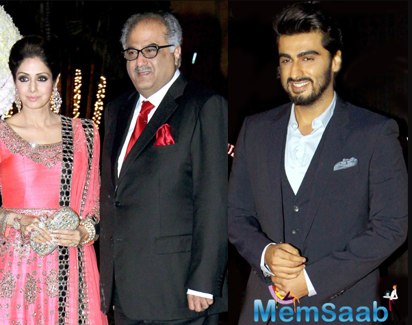 After her demise, Arjun has taken over the baton of the family and has stood rock-solid by father Boney Kapoor and sisters.
