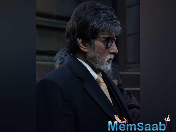 Amitabh Bachchan shared the first look of the sets of his upcoming movie 'Badla'.