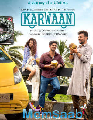 A crazy and fun-filled road trip awaits, this is what the first look poster of Irrfan Khan, Dulquer Salmaan and Mithila Palkar's forthcoming film Karwaanhints about.