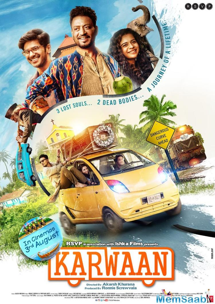 Irrfan Khan, who is currently undergoing treatment for neuroendocrine tumour in London, had made a brief appearance on Twitter in May to wish his co-stars Dulquer and Mithila for Karwaan.
