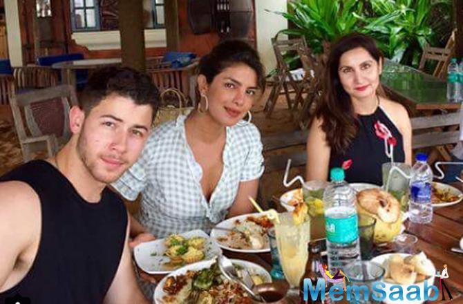Earlier this month, Priyanka met the singer's extended family at his cousin's wedding in New Jersey.