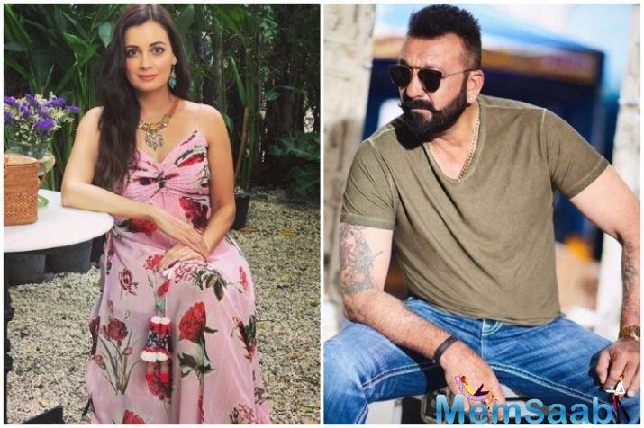 Dia Mirza, who features in a pivotal role in Sanju, a movie on Sanjay Dutt's life, buys iconic mother India poster priced over a lakh for Sanjay Dutt.
