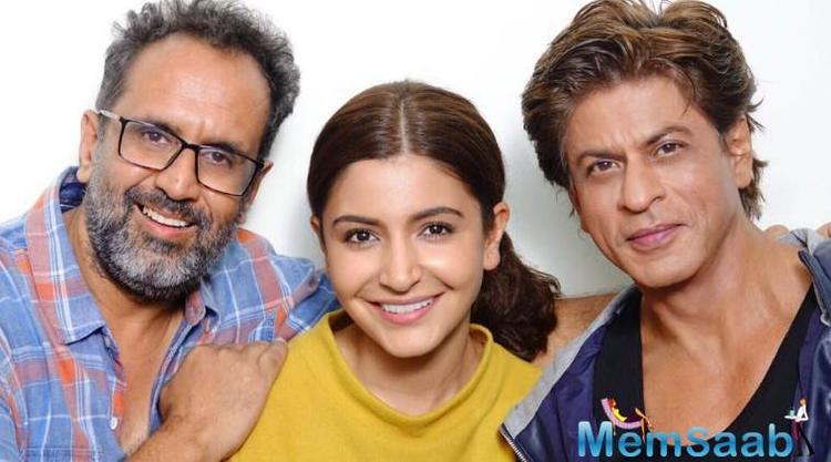 She posted the message along with a photograph featuring Shah Rukh and director Aanand L. Rai on either side. The movie also features Katrina Kaif.