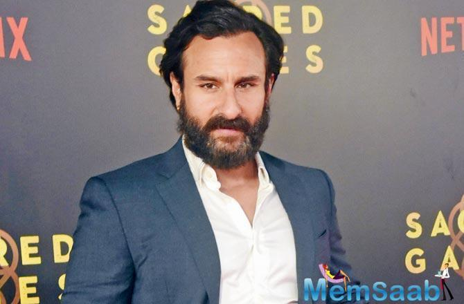 Like wife Kareena Kapoor Khan who flew down to Mumbai from London for a day to honour a professional commitment last week, Saif Ali Khan too made a quick trip to the Bay.