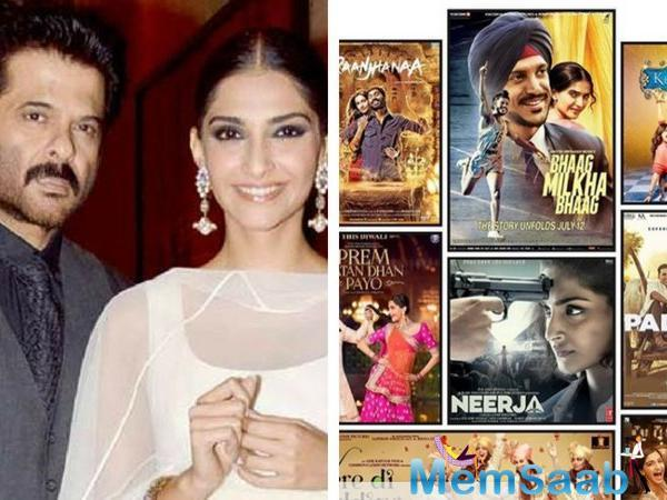 Taking a look back at Sonam Kapoor's cinematic journey, father Anil Kapoor says he is proud of his daughter's career decisions and he couldn't be happier.