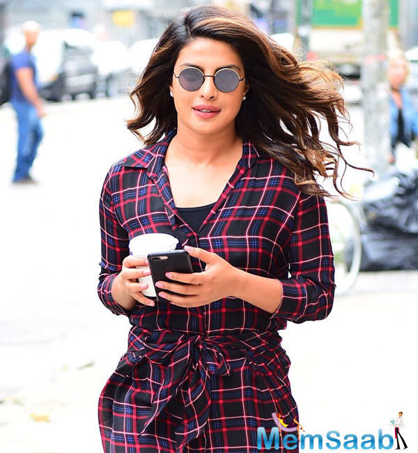 Global sensation Priyanka Chopra has officially ended her vacation with rumoured beau, Nick Jonas, and is back to India to start prepping for her upcoming film, 'The Sky is Pink'.
