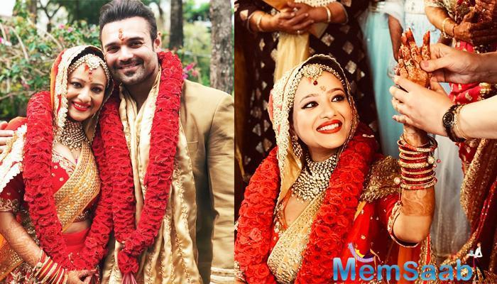 Mithun Chakraborty's son Mahaakshay aka Mimoh has tied the knot with fiance Madalsa Sharma in a private ceremony here.