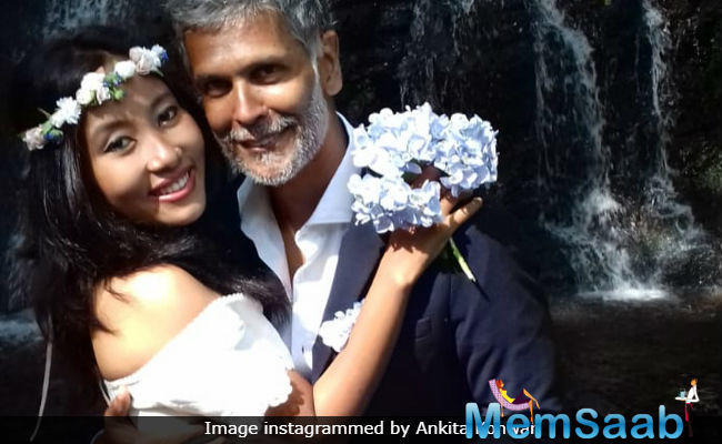 Milind Soman and Ankita Konwar exchanged wedding vows again in Santiago de Compostela, Spain, where they are holidaying.