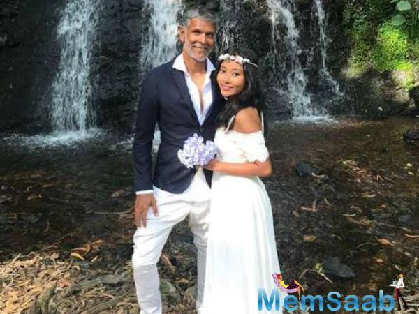 Milind Soman, the former model and fitness enthusiast got married to longtime girlfriend Ankita Konwar in Alibaug with a small group of family and friends in attendance in late April.