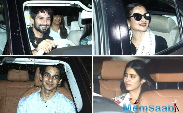 Singer Neha Kakkar, Dino Morea, David Dhawan, Sonakshi Sinha were also seen attending the screening of the film that releases on July 20.