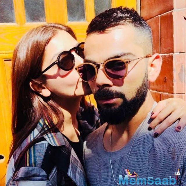 Just look at it. Anushka had wrapped her arm around him perhaps saying he is taken ladies! Check out the picture and you will know…