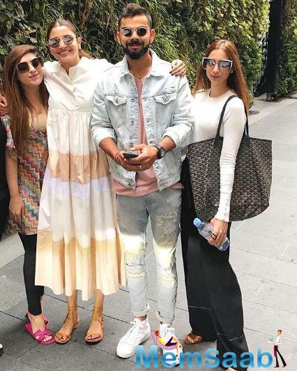Virat Kohli and Anushka Sharma continue giving couple goals as they travel across the United Kingdom.