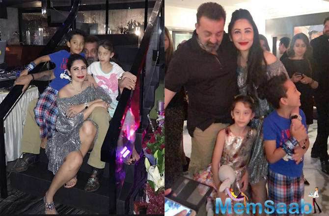 Maanayata Dutt took to Instagram to share pictures from her birthday bash.