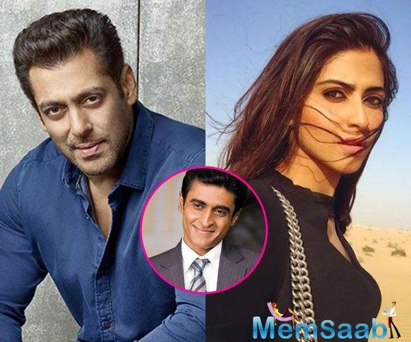 If reports are to be believed, Salman Khan will launch buddy, co-star Mohnish Behl's daughter Pranutan in his upcoming production, directed by Nitin Kakkar.