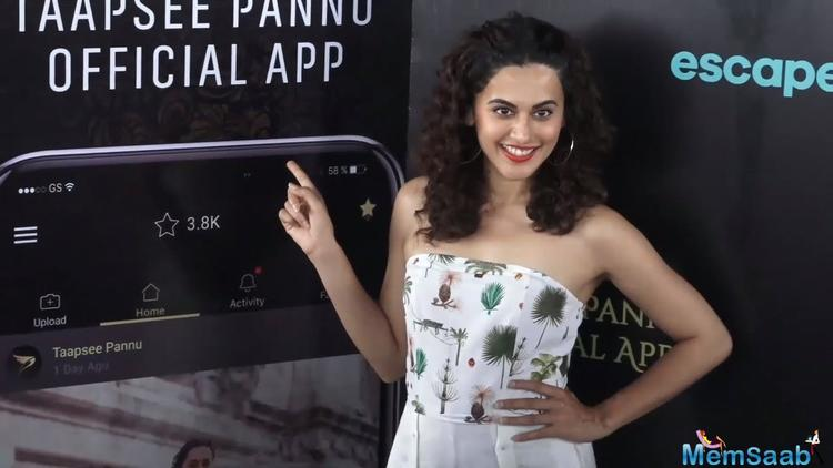 The app will be hosted with videos and photos of various parts of Taapsee's life including her on sets peek-a-boo, her travel expeditions, her daily life and love for various things and a lot more of exciting and fascinating content.