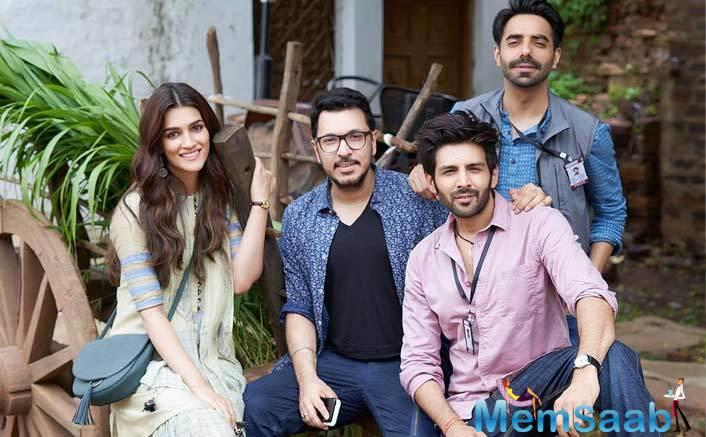 Kartik Aaryan and Kriti Sanon have started shooting for their upcoming film Luka Chuppi.