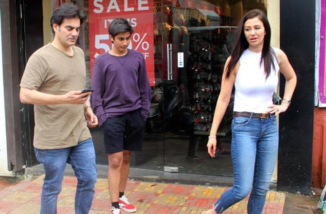 In July, Arbaaz Khan was spotted with son Arhaan and girlfriend Georgia Andriani exiting a Bandra restaurant.