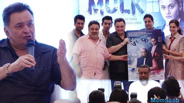 Rishi Kapoor doesn't have the patience to suffer questions. The actor was present at the success press conference of the film Mulk and he started off as a reluctant speaker.