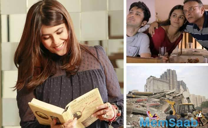 The content czarina Ekta Kapoor recently spared time from her hectic schedule to visit residents of Shahberi village in Greater Noida who lost their homes due to illegal constructions.