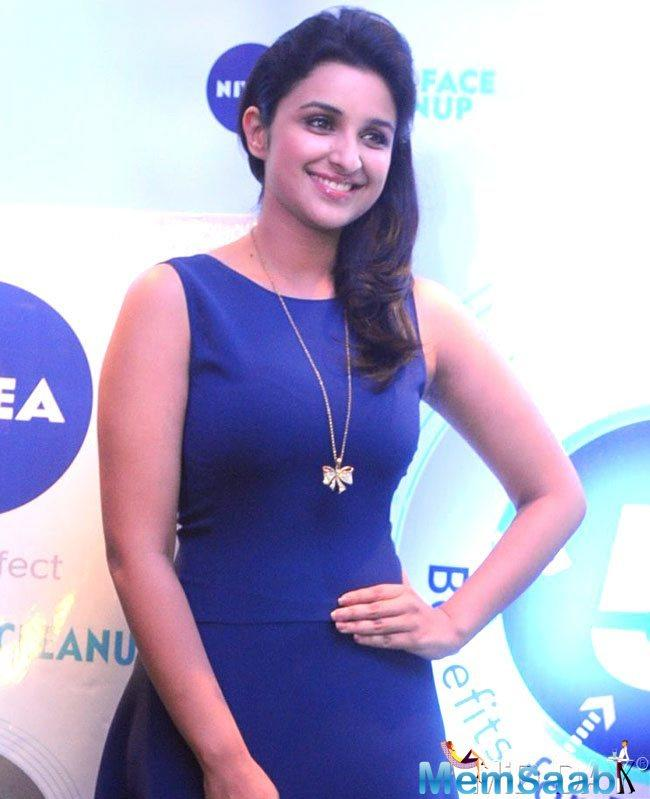 Parineeti Chopra stepped out in Mumbai for the promotions of Namaste England with co-star Arjun Kapoor in a tight-fitting dress in which she could barely walk, leave alone sit.