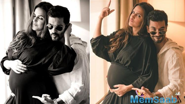 Yesterday, Neha Dhupia turned 38. Husband Angad Bedi celebrated her big day over lunch and cake-cutting at a Bandra restaurant.