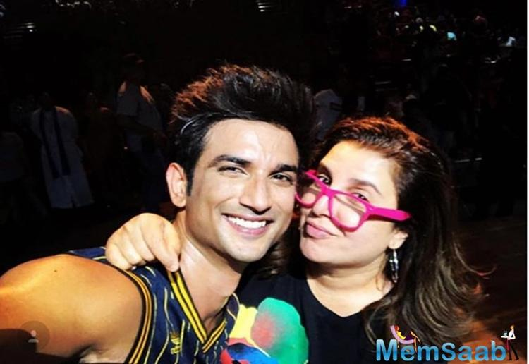 Sushant Singh Rajput, who is currently busy shooting for his next Kizie aur Manny, shared a fanboy moment with none other than Farah Khan Kunder.