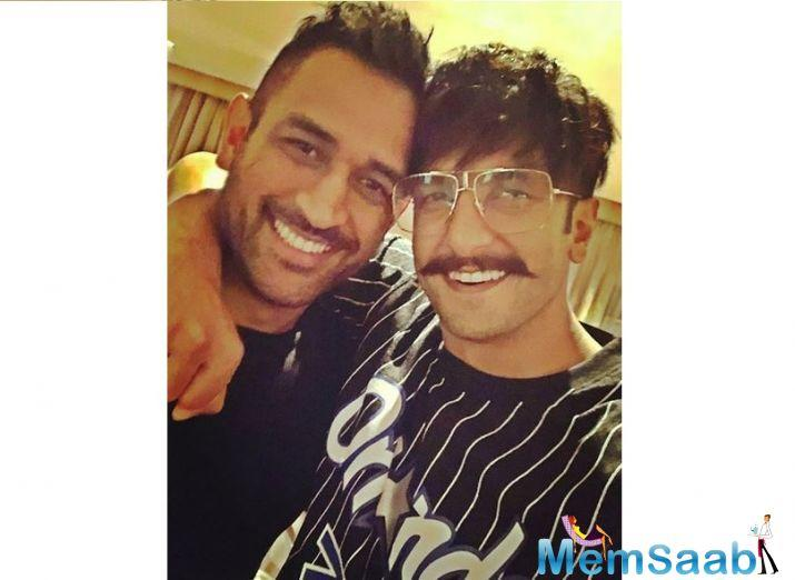 The most recent addition on the 33-year-old's cheerful Instagram feed is ace Indian cricketer MS Dhoni.