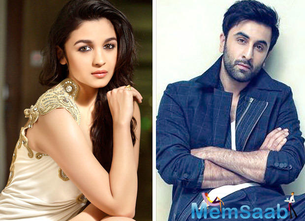 Looks like Alia Bhatt can't take her eyes off beau Ranbir Kapoor. She shared a photo from the set of Ayan Mukerji's Brahmastra, which is currently being shot in Bulgaria.