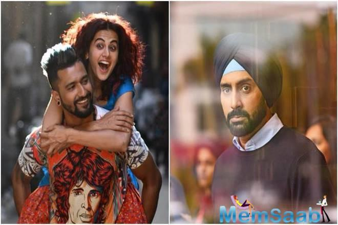 Anurag Kashyap's 'Manmarziyan' - starring Abhishek Bachchan, Taapsee Pannu and Vicky Kaushal, has earned Rs 3.52 crore on its opening day.