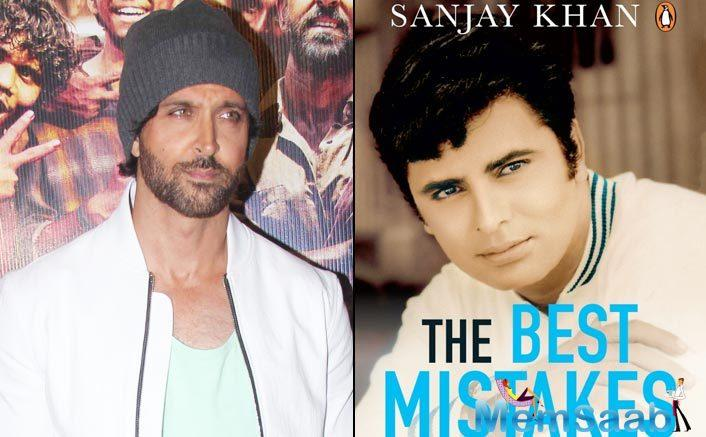 Hrithik Roshan on Thursday shared the first look of veteran Bollywood actor and his former father-in-law Sanjay Khan's autobiography The Best Mistakes of My Life.