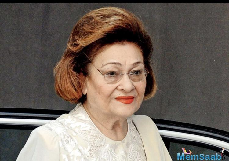 Krishna Raj Kapoor, the wife of legendary actor Raj Kapoor, passed away on Monday due to cardiac arrest. She was 87.