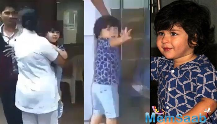 Taimur Ali Khan is undoubtedly one of the most-loved star kids currently! A video that is crazily going viral on the internet sees Taimur waving to the cameras while being clicked.