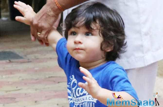 What surprised everyone more was when Taimur said, 'It is Tim,' to the shutterbugs, as they called him by his first name, Taimur.