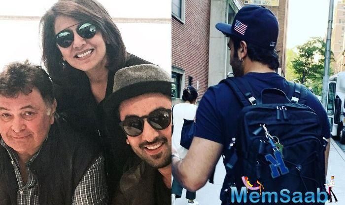 Neetu took to Instagram and shared a picture of son Ranbir Kapoor, calling him her 'strength'.