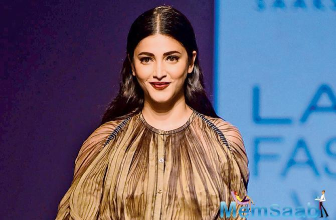 Shruti Haasan is in Los Angeles focussing on her musical pursuits.