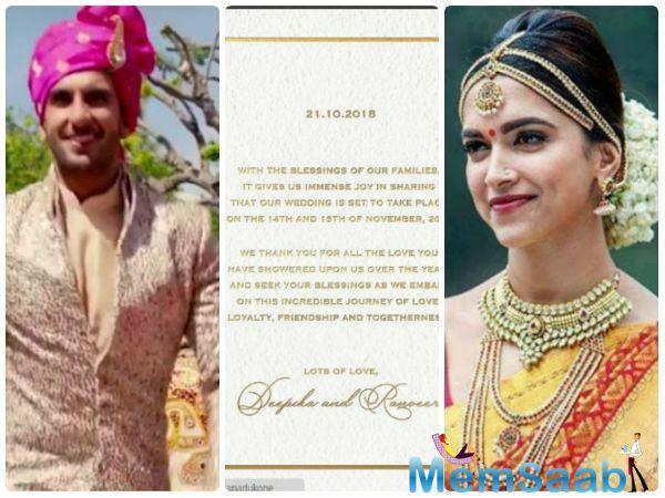 Fans have been pouring congratulatory messages on Deepika and Ranveer's posts on social media and are very happy for the couple.