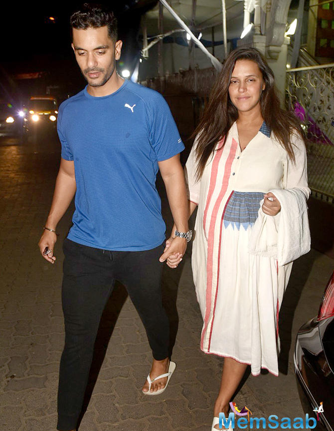Neha is eight and a half months pregnant. The actor, who got married to Angad Bedi this May, says she will soon get back to work after the delivery.