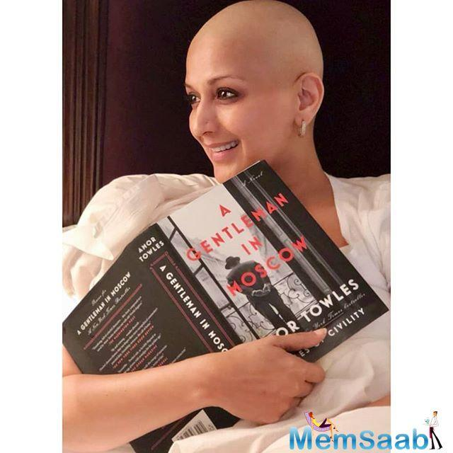 Sonali Bendre Behl, who is undergoing treatment for metastatic cancer here, says her eyesight was doing