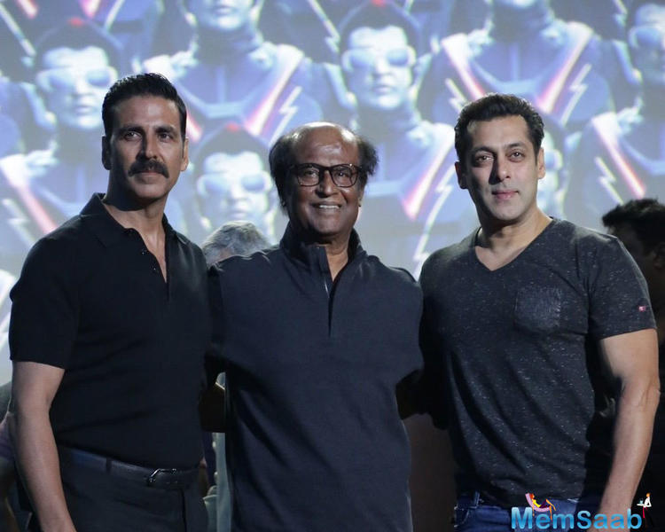 In the film, Rajinikanth plays a scientist and a robot. Speaking on the occasion, Shankar said audience will see Rajinikanth in multiple avatars and it'll be a treat to watch.