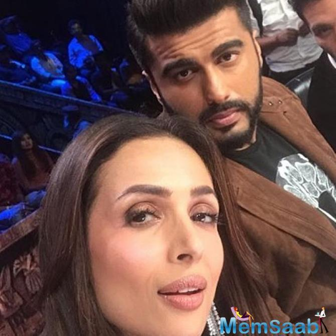 First, Arjun visited the set of Malaika's show, India's Got Talent, where they danced together and held hands.