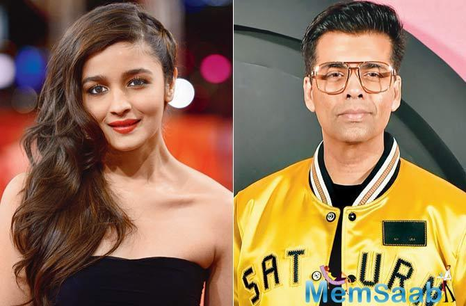 Alia Bhatt has always spoken highly of her 'mentor' Karan Johar, who brought her into showbiz with Student Of The Year.