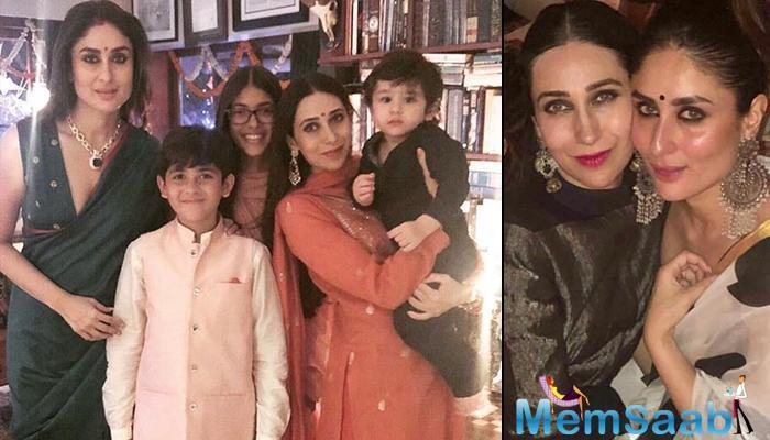 One such party hosted was at Saif Ali Khan and Kareena Kapoor's Bandra residence. Karisma Kapoor shared a picture on her Instagram account, which looked absolutely royal!