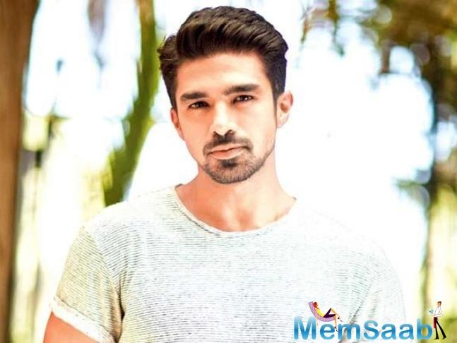 Saqib Saleem had to grow a moustache for his maiden digital project.