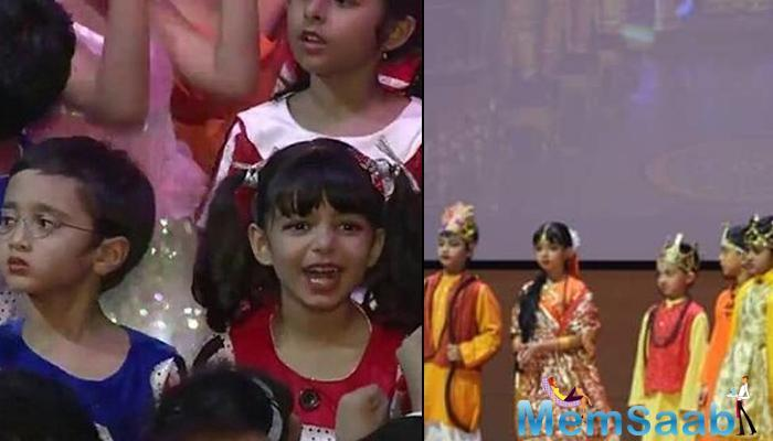 Now, what they could not do, their kids have done. Aamir's son Azad and Ash's daughter Aaradhya shared the stage in a school play based on the Ramayan. Aaradhya played Sita, Azad was Ram.