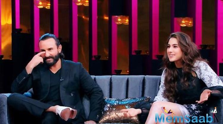Sara Ali Khan, who finally made her much-awaited debut on the sets of 'Koffee with Karan' today, with her father Saif Ali Khan, opened up about her equation with her stepmom Kareena Kapoor.