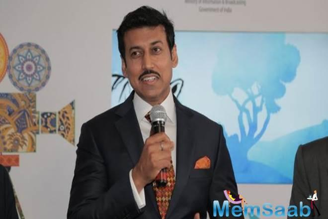 """On his sports portfolio Rathore quipped, """"I get whole lot of energy as I get to interact with young people…it is indeed great and both the portfolios are close to me."""""""