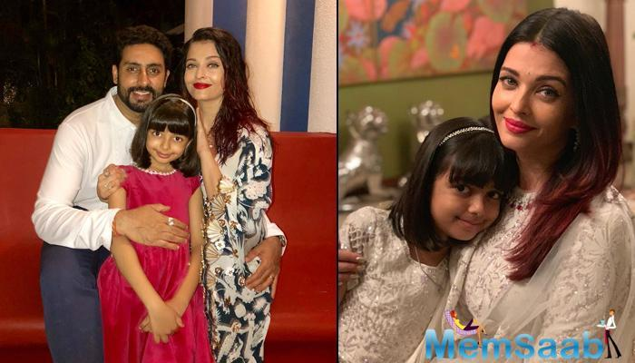 """Says doting father Abhishek, """"She is quite a little lady. At the same time, there is a huge quotient of mischief in her."""""""