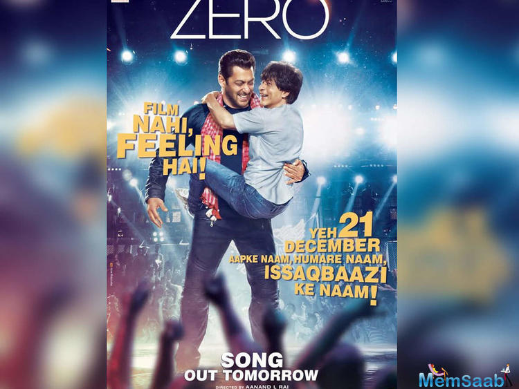The fun-filled song will showcase Shah Rukh Khan matching steps with Salman Khan, glimpses of which were seen in the teaser unveiled earlier this year.