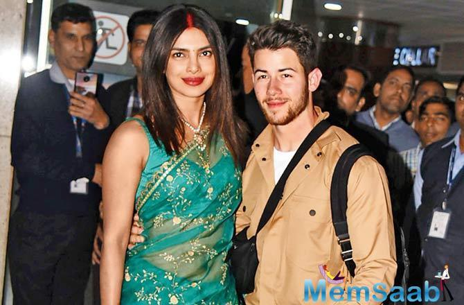 Yesterday, Priyanka Chopra and Nick Jonas arrived in New Delhi on Monday ahead of their wedding reception.