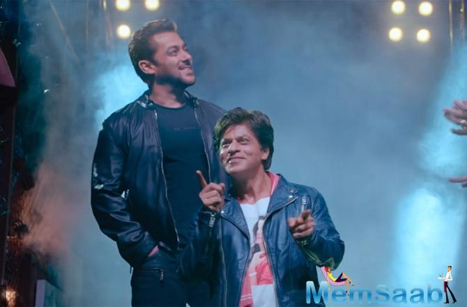 The fun-filled song showcases Shah Rukh Khan matching steps with Salman Khan, glimpses of which were seen in the teaser unveiled earlier this year.
